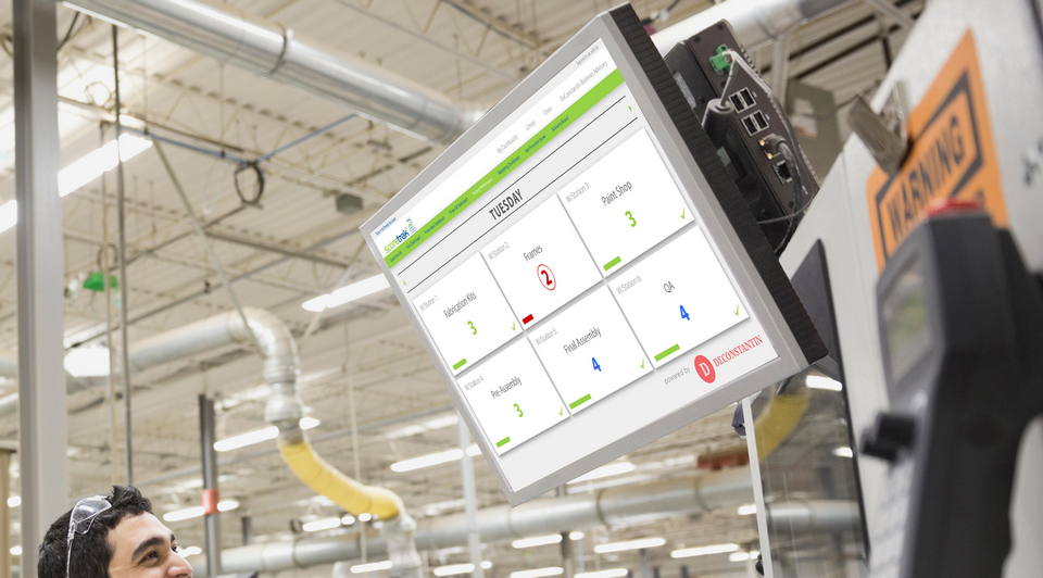 Displaying live production data in the factory can help turn around a struggling manufacturing business